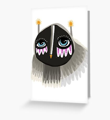 Floating owl Greeting Card