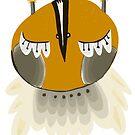 Floating mustard owl by annieclayton