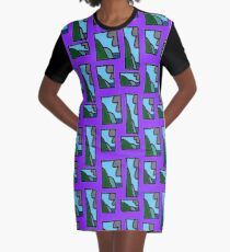 Techno #61 (2016) (Coal Coast) - by artcollect Graphic T-Shirt Dress