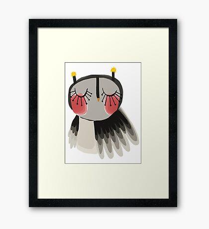 Rosy cheeks owl Framed Print