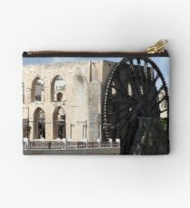 Water wheel in Hama, Syria Studio Pouch