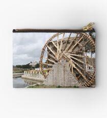 Water wheel or noria in Hama, Syria Studio Pouch