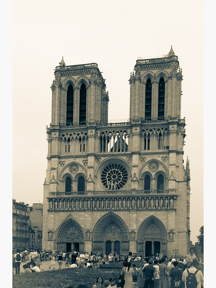 Our Lady Of Paris Sepia Poster
