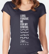 Lord, Forgive Me For My Synths Women's Fitted Scoop T-Shirt