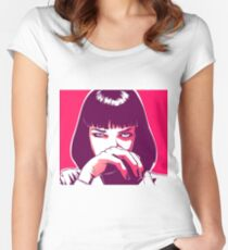 Pulp Fiction - Mia Wallace Women's Fitted Scoop T-Shirt