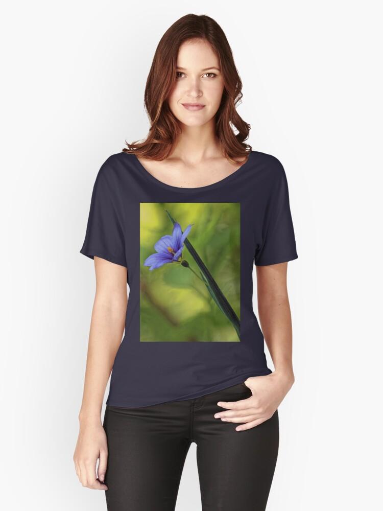 --Blue-Eyed Grass Women's Relaxed Fit T-Shirt Front