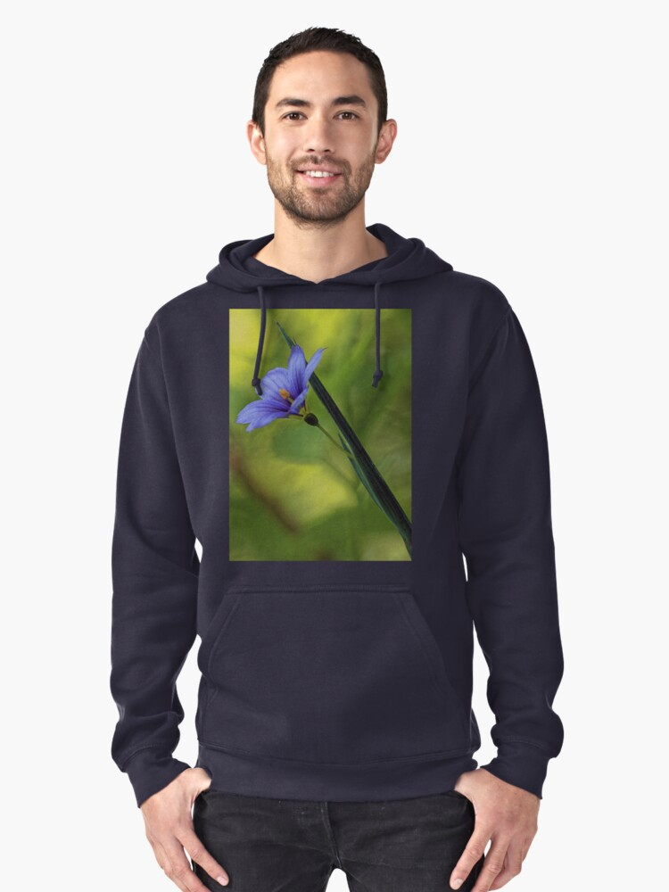 --Blue-Eyed Grass Pullover Hoodie Front