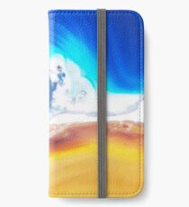 Gemstones in blue and yellow iPhone Wallet/Case/Skin