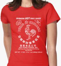 Sriracha Hot Chili Sauce Women's Fitted T-Shirt