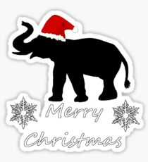 Christmas Elephant Sticker