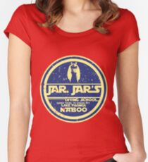 JAR JAR DIVING SCHOOL  Women's Fitted Scoop T-Shirt