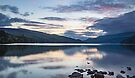 last embers of the day at Loch Tay, nr Aberfeldy Perthshire by Cliff Williams