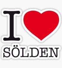 I ♥ SÖLDEN Sticker