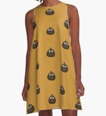 Angry Cartoon Poop  A-Line Dress