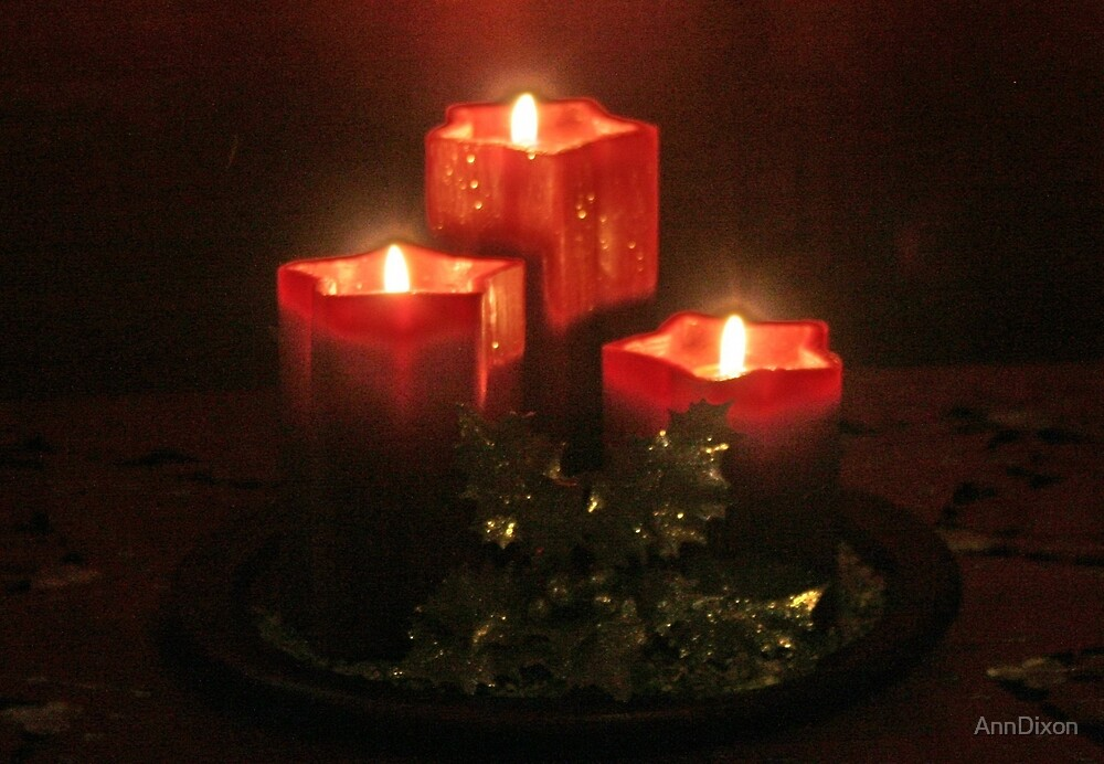 Red Candles by AnnDixon