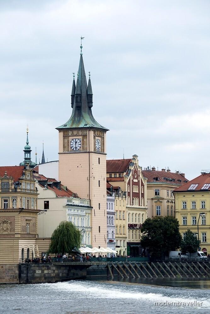 Riverside spires in Prague by moderntraveller