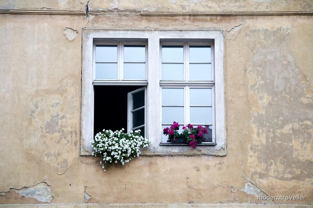 Window in the wall, Prague by moderntraveller
