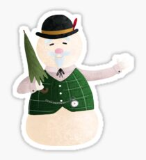 Sam the Snowman Sticker