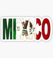 Mexico Font with Mexican Flag Sticker