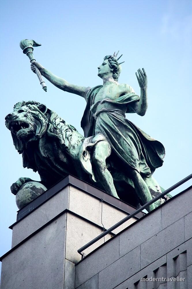 Statue astride a beast by moderntraveller
