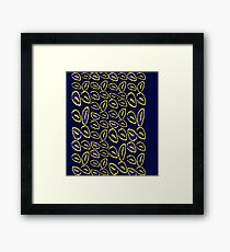 Yellow seed blue pattern Framed Print