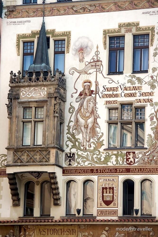 Painted walls in Prague by moderntraveller