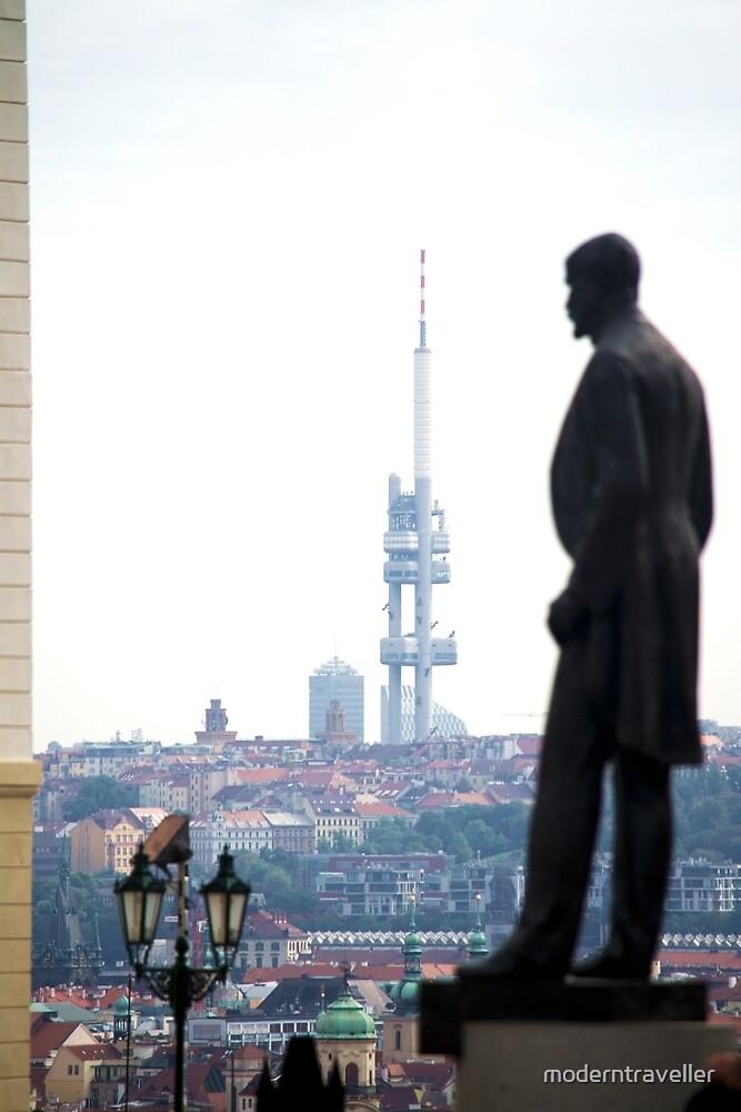 Standing tall over Prague by moderntraveller