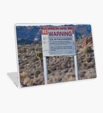 Area 51 Warning Sign Laptop Skin