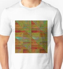 Jewel Toned Textured Triangles T-Shirt