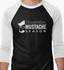 Movember Mustache Season No Shave November Men's Baseball ¾ T-Shirt