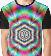Psychedelic Hexagon Graphic T-Shirt