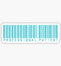 Professional Patient - Turquoise Sticker