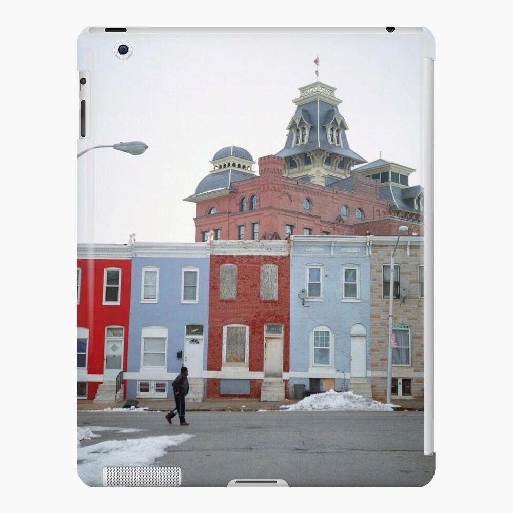 Rowhomes in Baltimore Funda y vinilo para iPad