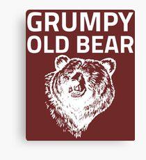 Grumpy Old Bear Canvas Print