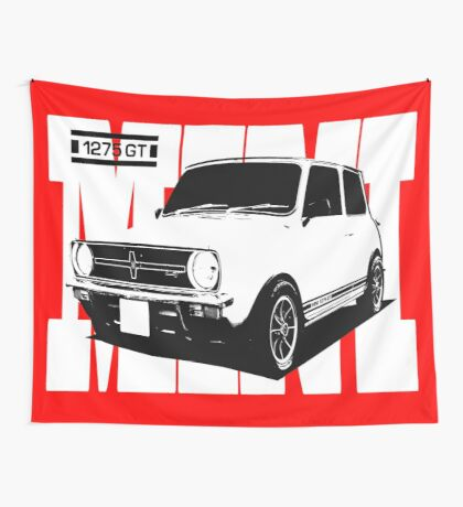 Mini 1275 GT Men's Classic Car T-Shirt Wall Tapestry