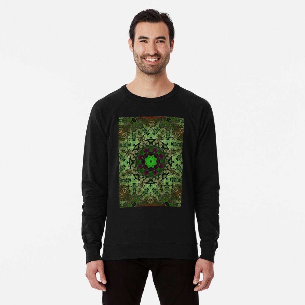 Kunstböhmisches Druckwaldgrün Mandala der Renaissancekunst Leichter Pullover