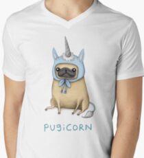 Pugicorn - Rehkitz T-Shirt mit V-Ausschnitt