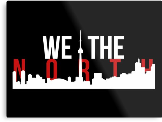 Quot Raptors We The North Toronto Skyline Quot Metal Print By