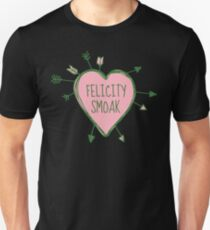 Felicity Smoak - Heart with Green Arrows Doodle T-Shirt