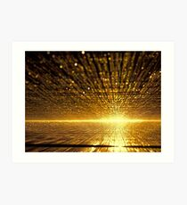 Golden dawn - digitally generated image Art Print