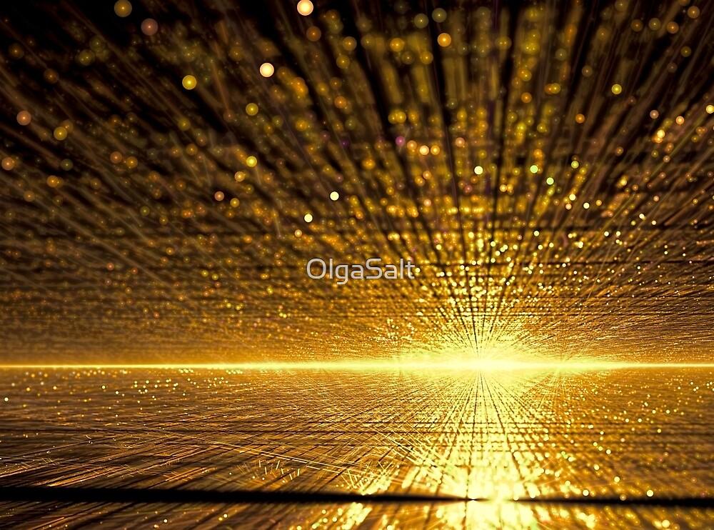 Golden dawn - digitally generated image by OlgaSalt