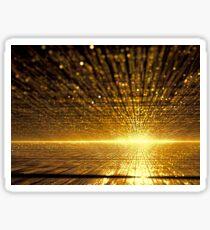 Golden dawn - digitally generated image Sticker