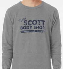 Keith Scott Body Shop Weathered Hoodie – One Tree Hill, Lucas Scott Lightweight Sweatshirt