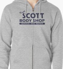 Keith Scott Body Shop Hoodie - Ein Baum Hill, Lucas Scott Kapuzenjacke