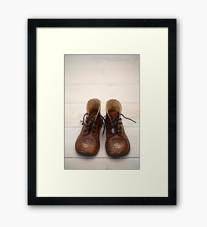 Baby Brogue Boots Framed Print