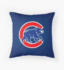 Chicago Cubs logo 2 Throw Pillow