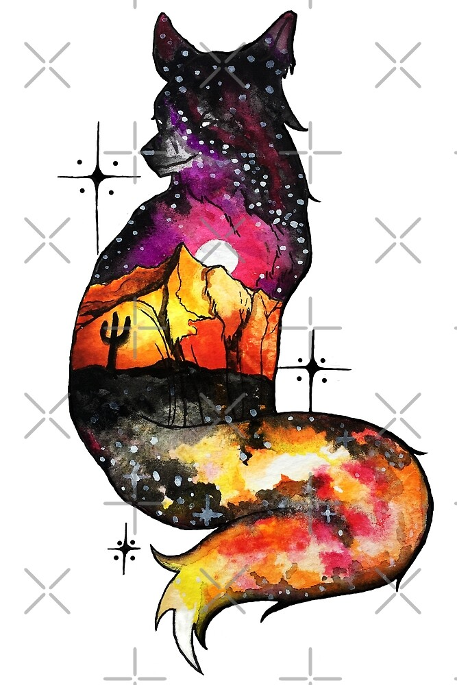 Quot Desert Galaxy Fox Quot By Fallenapple Redbubble