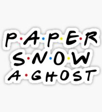 PAPER SNOW A GHOST Sticker