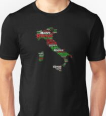 Italy Outline Flag Color Graphic Design Italian Turin Venice Bari Rome Unisex T-Shirt