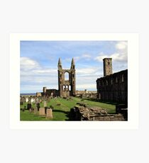 St Andrews' Cathedral - another angle Art Print